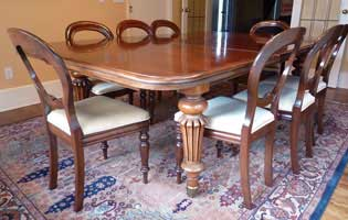 English mahogany Victorian Dining Suite