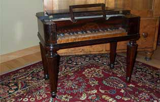 English Antique rosewood childs piano Circa 1860